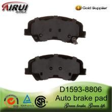 Pastillas de freno D1593-8806 para Hyundai Accent(OE:581011RA00)