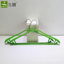 cintre de vêtement de vêtements en métal enduit de PVC