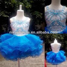 NW-418 Charmante Perlen Organza Rock Blumenmädchen Kleid