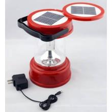 Солнечной светодиодный фонарь Кемпинг лампы свет двойной панели солнечных батарей