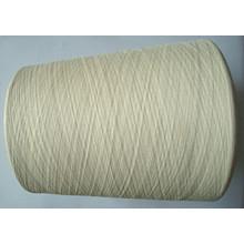 Silk Cotton Blanched Yarn Raw White