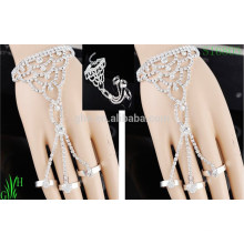 Pulsera brazalete de cadena de diamantes de imitación
