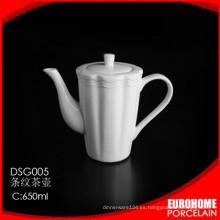 Eurohome fabrica la tetera de porcelana blanca producto nuevo
