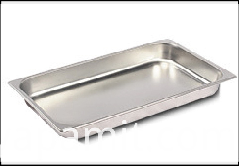 Stainless steel serving plate 1 grid