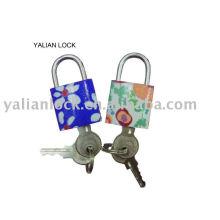 Printed iron padlock