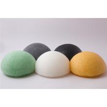 Cuidados com a pele 100% fibra vegetal Facial limpeza esponja Konjac esponja