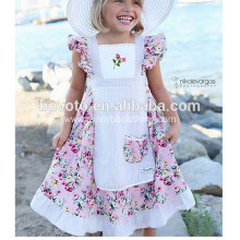 JannyBB floral printed apron toddler dress