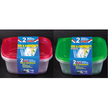 Rectangular Plastic Take Away Microwavable Food Container 64oz