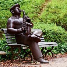 alta qualidade músico saxofonista estátua