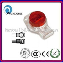china 2015 self stripping connector, lock joint wire connector for telecom drop wire terminal
