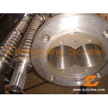 Pelletizer Machine 65/132 Conical Twin Screw and Barrel