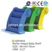 JQP4403 School furniture kids plastic book shelf
