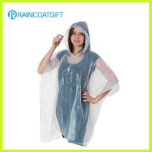 Baratos Poncho de lluvia desechable transparente PE Rpe-020