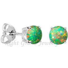Acero inoxidable quirúrgico 316L Pendientes de perlas de ópalo de 5MM Opal Piercing