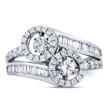 Großverkauf 925 silberner Ring-Schmucksache-Tanzen-Diamant CZ
