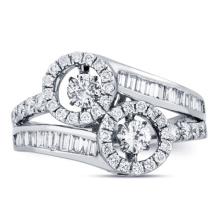 Diamante de plata CZ del baile de la joyería del anillo de las ventas al por mayor 925