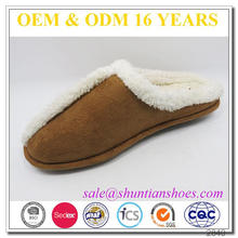 new arrival fur lined TPR sole winter warm plush indoor slipper