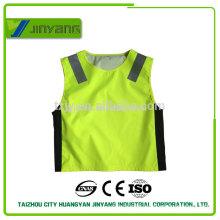 300D oxford waterproof driving school zipper reflective safety vest