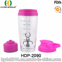 600ml Popular BPA Free Plastic Electric Vortex Shaker Bottle, Customized Electric Powder Shaker Bottle (HDP-2090)
