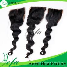 Top-Qualität Spitze Schließung Körperwelle Haar Remy Menschenhaarverlängerung