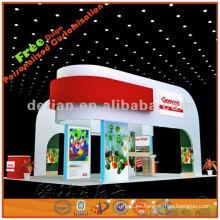 Exposición, diseño, solución, concha, esquema, ideas, exposición, stands, exposición, estándar, cabina