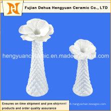 Table Vase Furnishing Articles with White Glaze