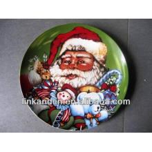 Haonai 2014 full decal print bright color ceramic artwork plate