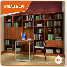 Librería completamente surtida con mesa de estudio conjunto de diseño