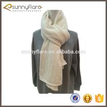 2017 novo design de moda padrão de lenço de caxemira de malha branca para o inverno
