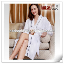 2015 New Design Bathrobe with Pipping Style Waffle Bathrobe Cotton