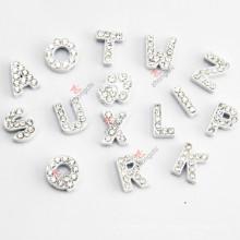 Vente en gros 8mm White Color Slide Letters for DIY Jewellery