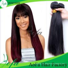 Überlegene Qualität kambodschanischen Straight Hair Pieces schwarz weben Haar