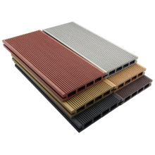 Chine Decking composite en bois creux anti-UV à faible coût extérieur
