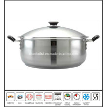 Stainless Steel Big Low Stockpot Cookware