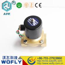 Válvula de solenóide de 12V de baixo preço de latão ou aço inoxidável impermeável