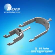 Braçadeira da canaleta de aço, acessórios da braçadeira da bandeja de cabo