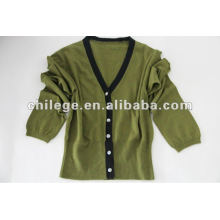 Cashmere knit button up cardigan sweater