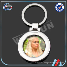 silver keychain picture frame
