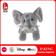 SA8000 Certificado Al Por Mayor de Peluche Suave Animal Relleno de Juguete de Elefante