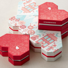 Nova embalagem de chocolate em forma de coração de luxo