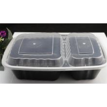 Récipient en plastique transparent réutilisable de nourriture de pp / récipient alimentaire de micro-onde / récipient hermétique de nourriture