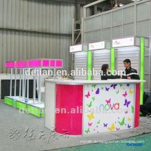 Leichte modulare Slatwall-Messestand-Ausstellungsstand 3mx6m mit Lattenwand, um Produkte zu hängen