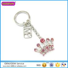 Factory Direct Sale Rinestone Fashion Jewelry Crown Keychain