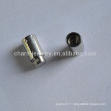 BXG026 Fermoir en acier inoxydable pour cordon en cuir Déduction de printemps pour bracelet Bijoux bricolage Décors et composants