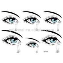 Etiqueta engomada temporal autoadhesiva del tatuaje del ojo del cosmético y del arte del cuerpo