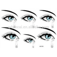 Body cosmetic and art non-toxic self-adhesive temporary eye tattoo sticker
