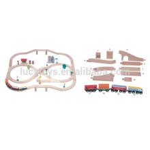 Wooden Railway Train Bridge Play Set Model Railway Set