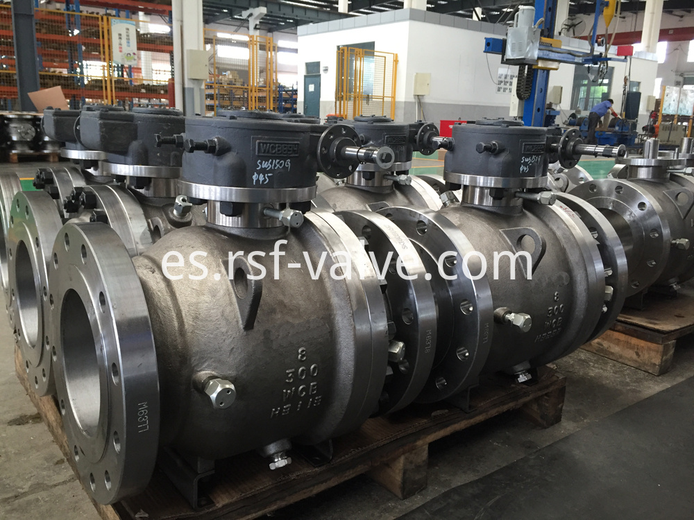 2pcs Body Cast Steel Trunnion Mounted Ball Valve 2