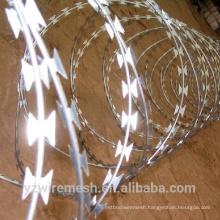 factory price razor barbed wire galvanized concertina razor wire