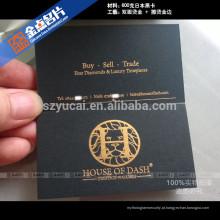 Exemplo de cartão de visita de papel tipográfico personalizado